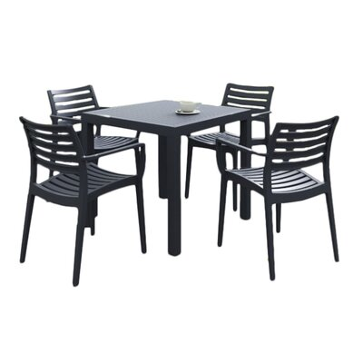 Nikoleta 5 Piece Dining Set Finish: Brown