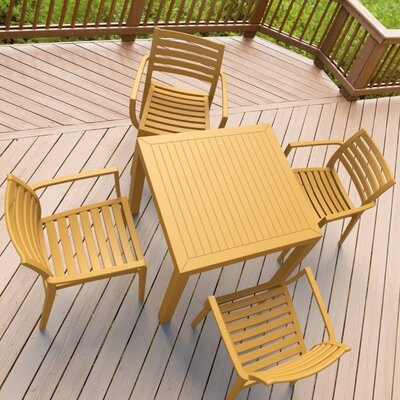 Nikoleta 5 Piece Dining Set Finish: Teak Brown