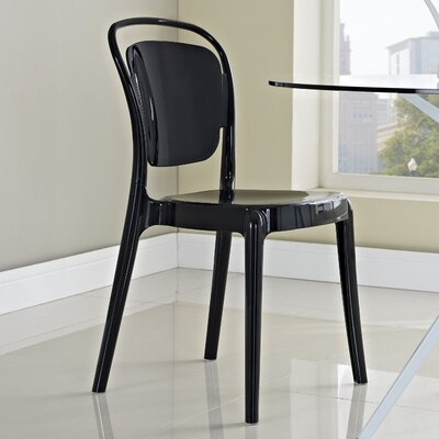 Rory Side Chair Finish: Black