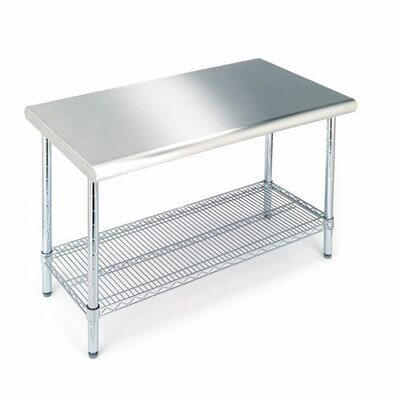 Euphrates Table with Stainless Steel Top