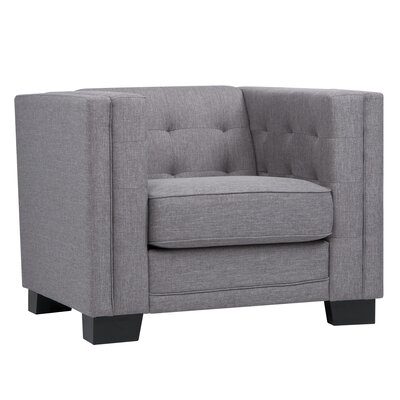 Vidette Square Lounge Chair Upholstery: Gray