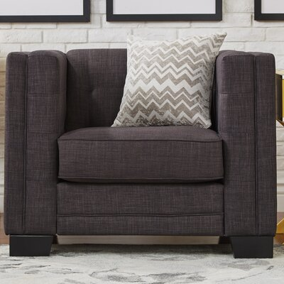Vidette Square Lounge Chair Upholstery: Dark Gray