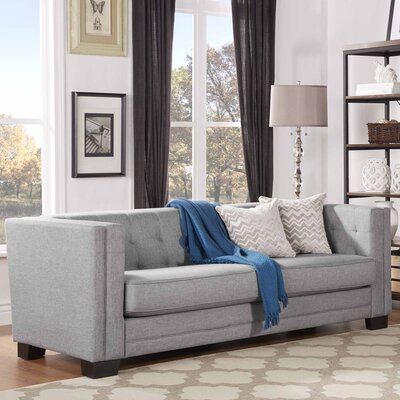 Vidette Square Chesterfield Sofa Upholstery: Gray