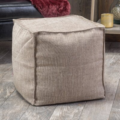 Linen Cube Ottoman Color: Light Brown
