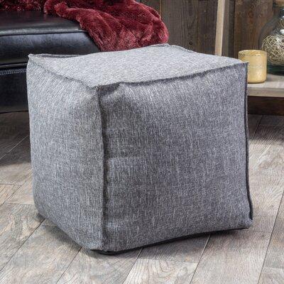 Linen Cube Ottoman Color: Slate Grey