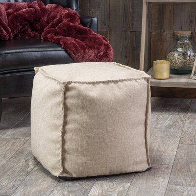 Linen Cube Ottoman Color: Canvas Beige