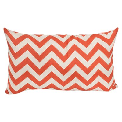 Nehemiah Outdoor Lumbar Throw Pillow Color: Orange