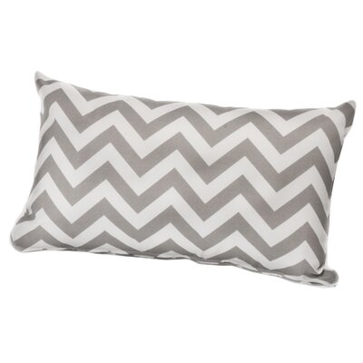 Arcadios Outdoor Lumbar Throw Pillow Color: Grey