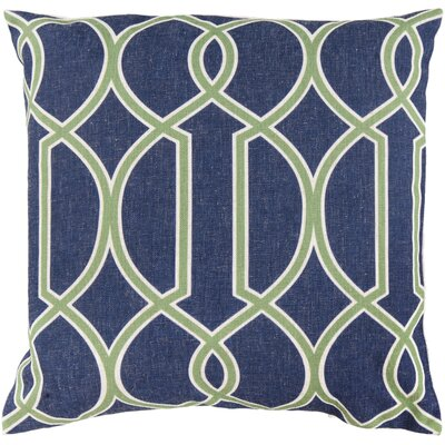 Georgios Intersecting Lines Throw Pillow Size: 22 H x 22 W x 4 D, Color: Peridot / Blue Corn / Peach Cream, Filler: Down