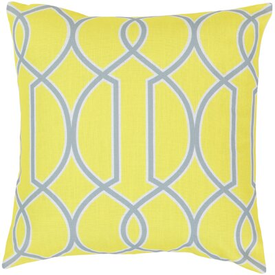 Georgios Intersecting Lines Throw Pillow Color: Chartreuse Yellow / Foggy Blue / White, Size: 22 H x 22 W x 4 D, Filler: Polyester