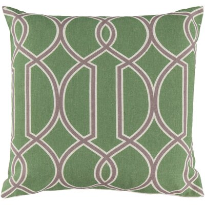 Georgios Intersecting Lines Throw Pillow Size: 22 H x 22 W x 4 D, Color: Peridot / Elephant Gray / Parchment, Filler: Polyester