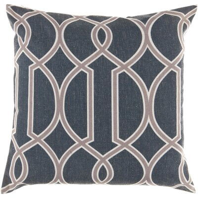 Georgios Intersecting Lines Throw Pillow Size: 22 H x 22 W x 4 D, Color: Ink / Caper Green / Papyrus, Filler: Down