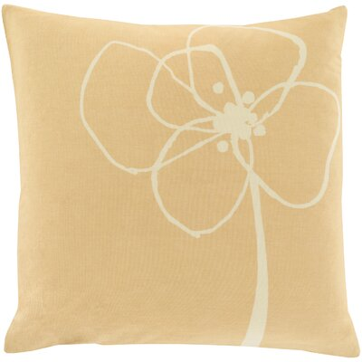 Cotton Throw Pillow Size: 22 H x 22 W x 4 D, Color: Yellow