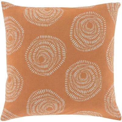 Maryanne 100% Cotton Throw Pillow Size: 22 H x 22 W x 4 D, Color: Orange