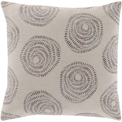 Maryanne 100% Cotton Throw Pillow Size: 22 H x 22 W x 4 D, Color: Gray