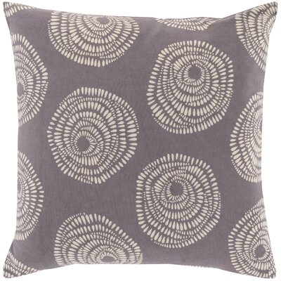 Maryanne 100% Cotton Throw Pillow Color: Charcoal, Size: 20 H x 20 W x 4 D
