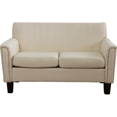 Townley Fabric Loveseat Upholstery: Beige