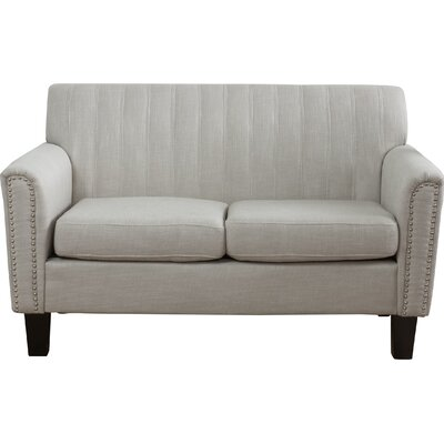Townley Fabric Loveseat Upholstery: Light Grey