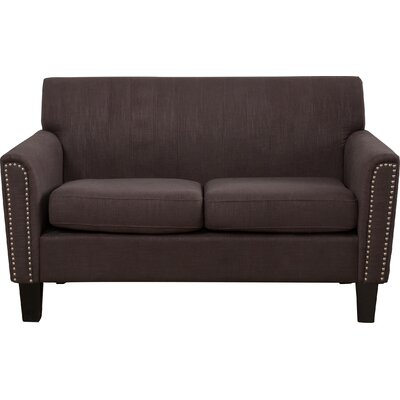 Townley Fabric Loveseat Upholstery: Chocolate Brown