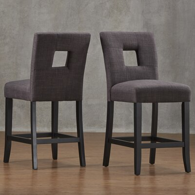 Belvin 24 Bar Stool Upholstery: Dark Grey