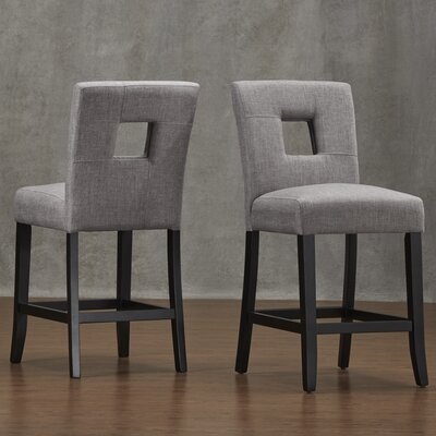Belvin 24 Bar Stool Upholstery: Grey