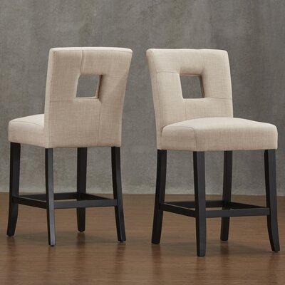 Belvin 24 Bar Stool Upholstery: Beige