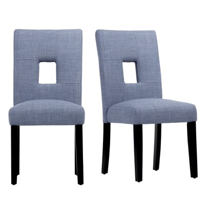 Belvin Side Chair Upholstery: Blue