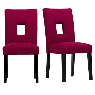 Belvin Side Chair Upholstery: Red