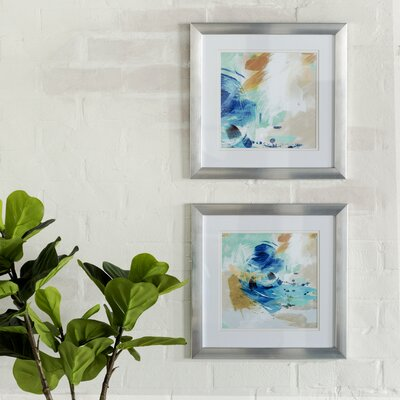 Abstract Swirl 2 Piece Framed Graphic Art Set MCRR2129 25760184