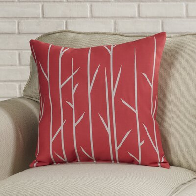 Throw Pillow Color: Coral, Size: 18 H x 18 W