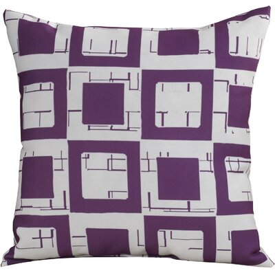 Geometric Decorative Throw Pillow Size: 16 H x 16 W, Color: Purple