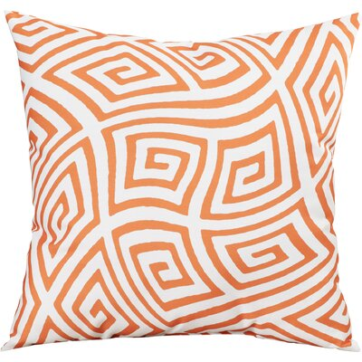 Adorno Throw Pillow Color: Celosia Orange, Size: 18 H x 18 W