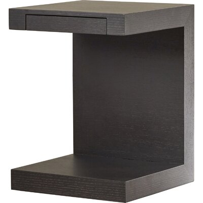 Eustorgios End Table Color: Black