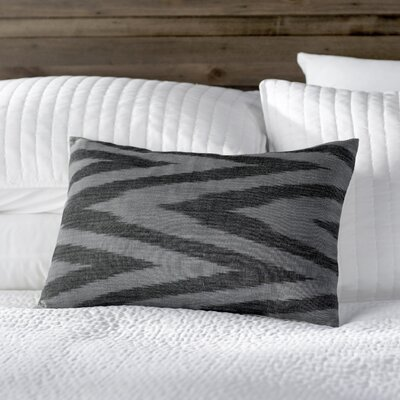 Chevron Cotton Throw Pillow Color: Silver