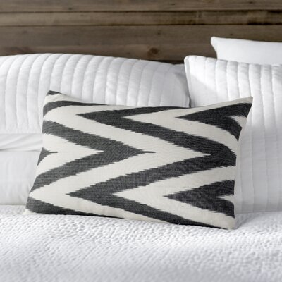 Chevron Cotton Throw Pillow Color: Charcoal