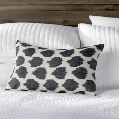 Polka Dots Cotton Lumbar Pillow Color: Charcoal