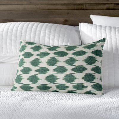 Polka Dots Cotton Lumbar Pillow Color: Aqua