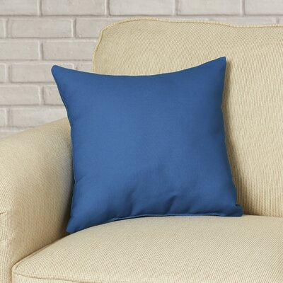 Polyester Throw Pillow Color: Moroccan Blue, Size: 18 H x 18 W
