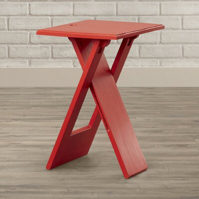 Artrip 19.25 Square Folding Table Finish: Red