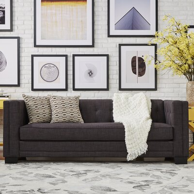 Vidette Square Chesterfield Sofa Upholstery: Dark Gray