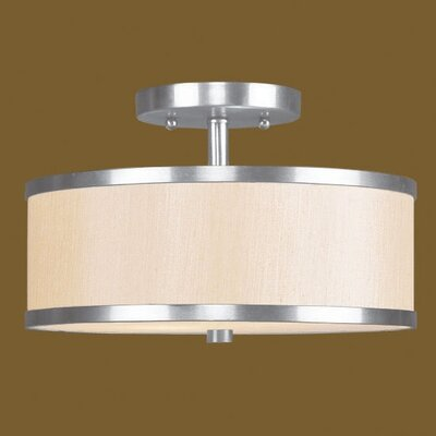Bisbee 2-Light Semi Flush Mount Size: 15 W x 15 D, Finish: Brushed Nickel