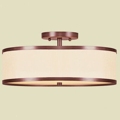 Bisbee 2-Light Semi Flush Mount Size: 15 W x 15 D, Finish: Vintage Bronze