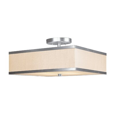 Cana 2-Light Semi Flush Mount Size: 12, Finish: Brushed Nickel