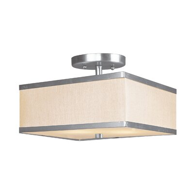 Cana 2-Light Semi Flush Mount Size: 10, Finish: Brushed Nickel