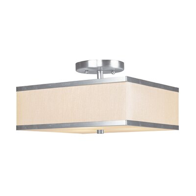 Cana 2-Light Semi Flush Mount Size: 14, Finish: Brushed Nickel