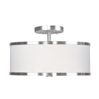 Cana Semi Flush Mount Size: 11 DIAx 7.5 H