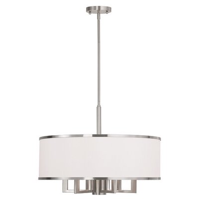 Cana 7-Light Drum Chandelier Finish: Brushed Nickel