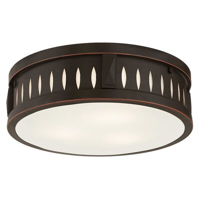 Kuhlman 3-Light Flush Mount Finish: Olde Bronze