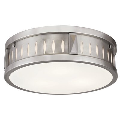 Kuhlman 3-Light Flush Mount Finish: Brushed Nickel