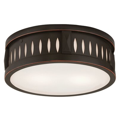 Kuhlman 2-Light Flush Mount Finish: Olde Bronze